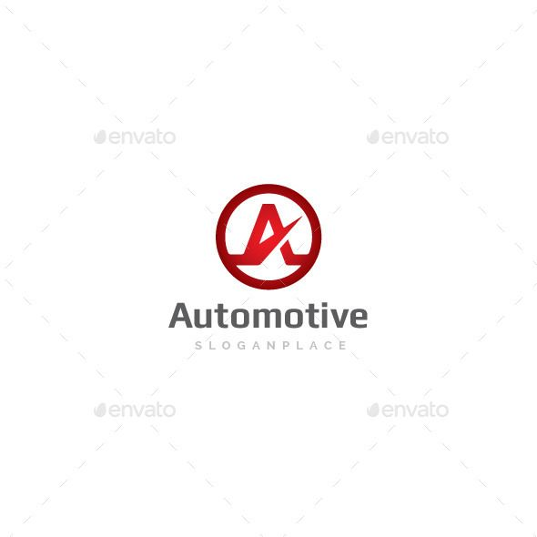 A Letter Automotive Logo — Vector EPS #aviation #service • Available here → https://graphicriver.net/item/a-letter-automotive-logo/8790440?ref=pxcr