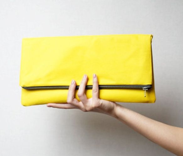 Yellow Clutch  by MirkaDesign