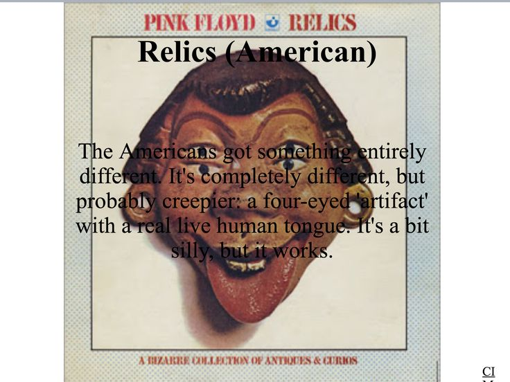 Pink Floyd - Relics (American)  Created by CIM