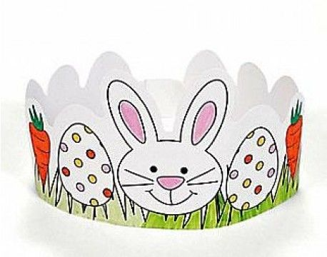 Colour your own Easter crown. A perfect mess-free craft for kids this Easter.