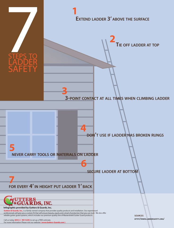 384 best images about health safety on pinterest for Ladder safety tips