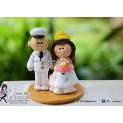 Navy Sailor Groom and Engineer Architect Bride Wedding Clay Souvenir by Claylandshop (claylandshop) Tags: wedding square navy souvenir clay squareformat nurse iphoneography instagramapp uploaded:by=instagram claylandshop