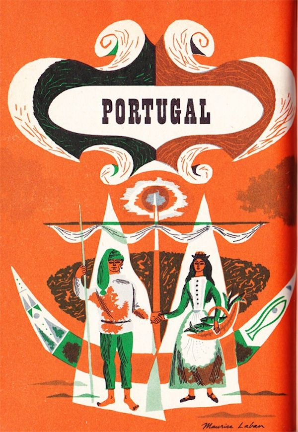 1959 Maurice Laban created a series of illustrations of various countries from Europe.