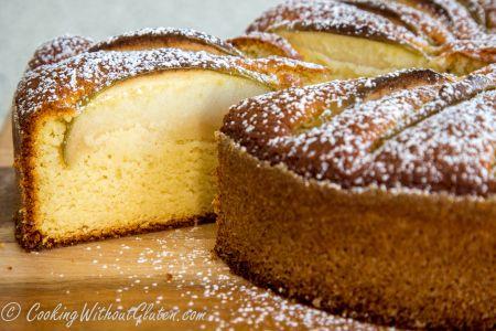 Лимонно-миндальный бисквит без глютена с добавлением рисовой муки