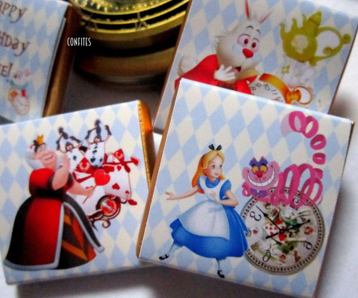 Personalised Chocolates Alice in Wonderland birthday party favour 25 pcs  | eBay