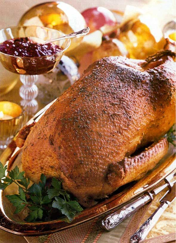 Mustard and Garlic Roast Goose Recipe