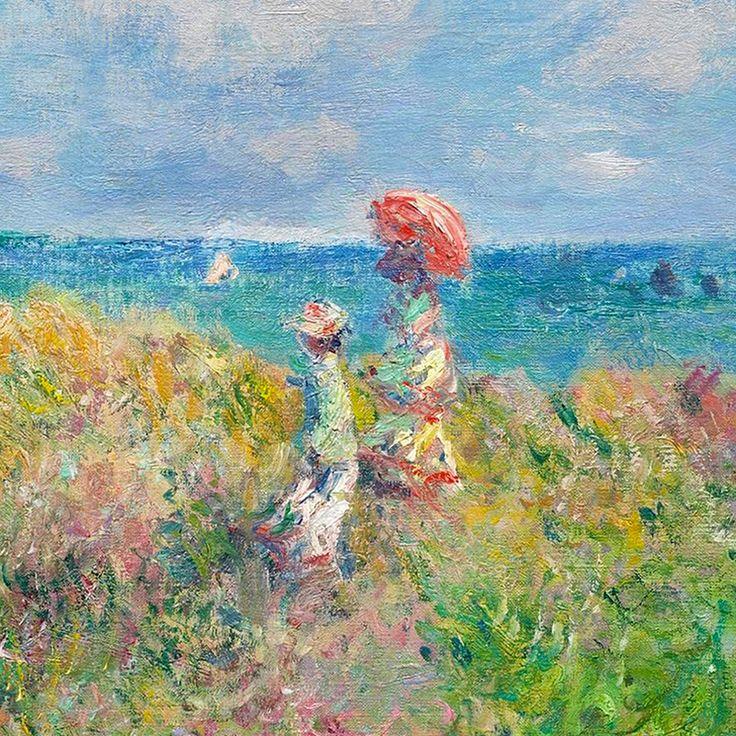 Cliff Walk at Pourville (detail) by Claude Monet