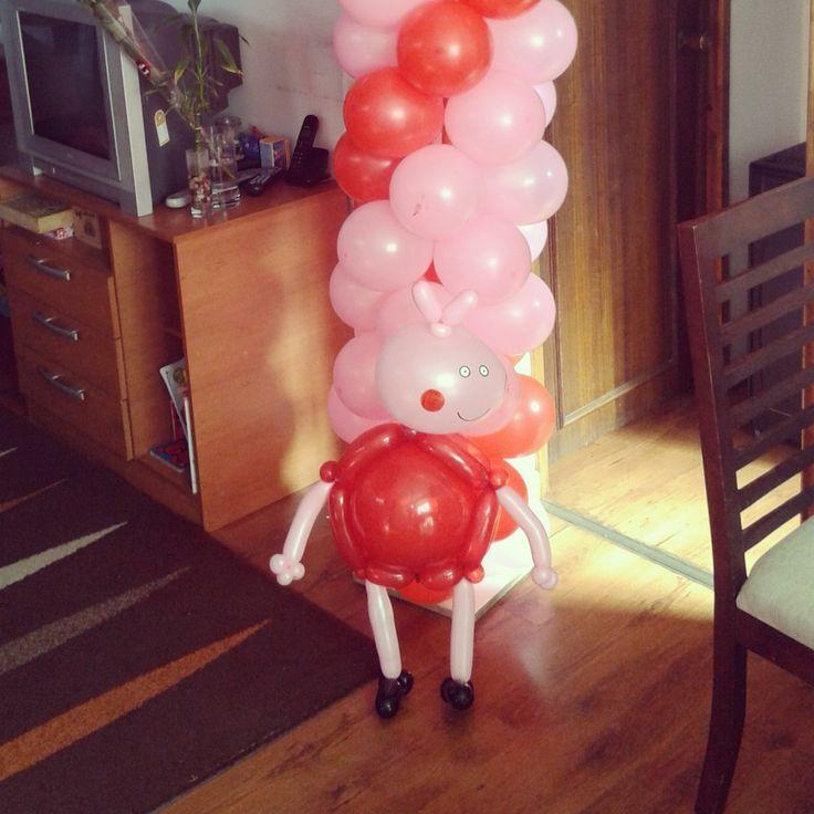 14 best figuras con globos, cerdita peppa pig images on Pinterest