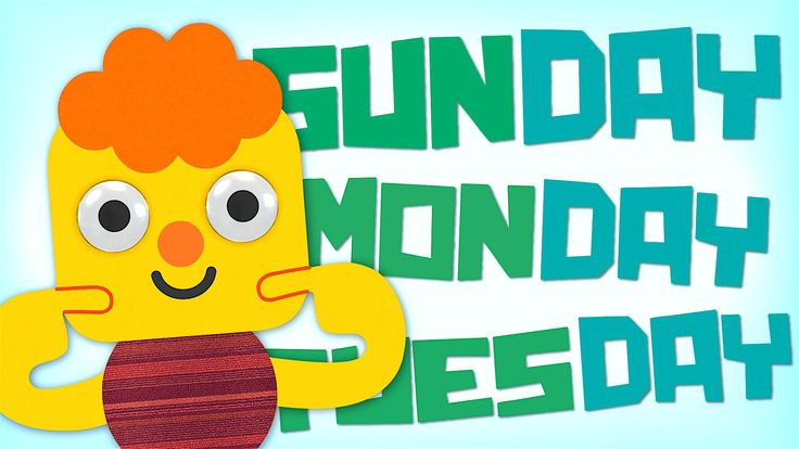 Sunday, Monday, Tuesday, Wednesday, Thursday, Friday, Saturday!! Practice the days of the week with this fun animated video from Super Simple Songs.