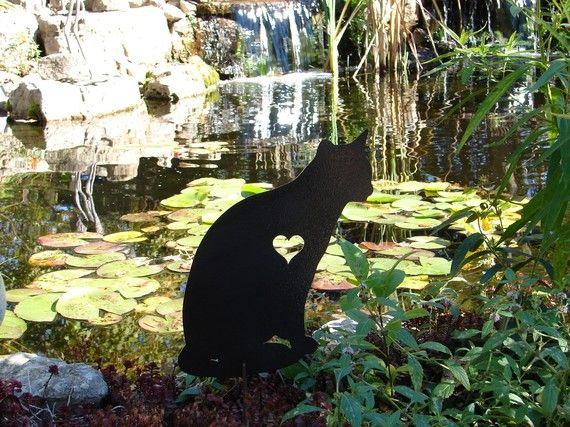 Pet Cat Memorial GARDEN STAKE Yard Lawn Feline Kitty on Etsy, $24.99