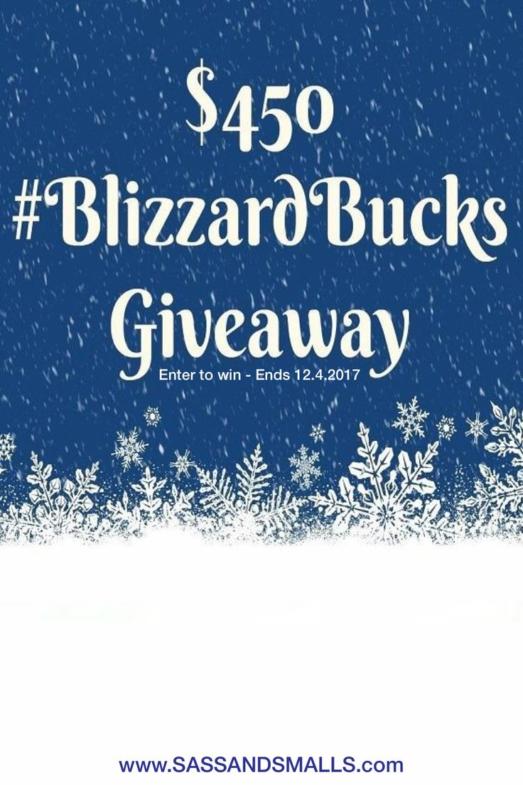 $450 CAD #blizzardbucks #cash #giveaway. Enter to win on the blog. Open worldwide and ends 12.4.2017 11:59PM EST.