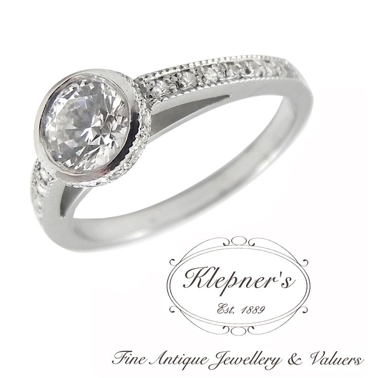 MODERN RUB SET CUSTOM MADE ENGAGEMENT RING. This modern engagement ring can be customized to include any combination of diamonds and/or gemstones such as sapphires, rubies, emeralds, birthstones, anniversary stones, etc & can be crafted in 9ct or 18ct white, rose or yellow gold, platinum or sterling silver.  Prices vary depending on your unique specifications, please don't hesitate to contact us for a quote tailored for you. Visit us at www.klepners.com.au
