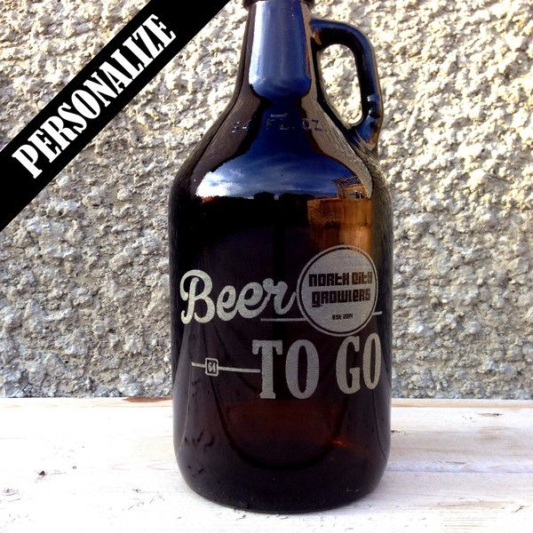 This growler is perfect for birthday gifts, Father's Day gifts, wedding giveaways, groomsmen presents and social prizes.