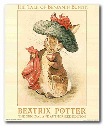 Beautiful poster! This bunny with illustrations by Beatrix Potter would be a beautiful addition to any child's room. This poster will add unique character and transform the entire look of your home. It goes well with all décor style. Hurry up! Grab this wonderful poster fir its high quality with perfect color accuracy.