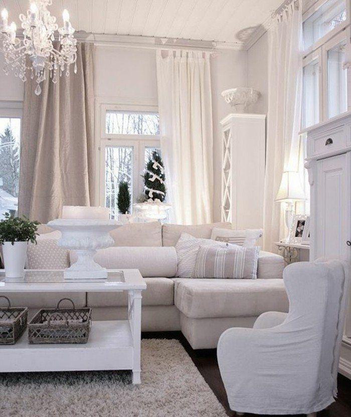 couleur peinture salon conseils et 90 photos pour vous inspirer - Salon Blanc Et Beige