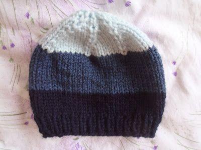 Barvínek: Modrá pletená čepička - návod