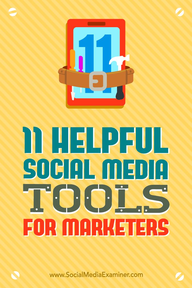 Looking for better social media marketing tools?  There are excellent third-party apps that can help you build your brand and audience through social channels.  In this article, you'll discover 11 helpful social media tools for marketers. Via @smexaminer.