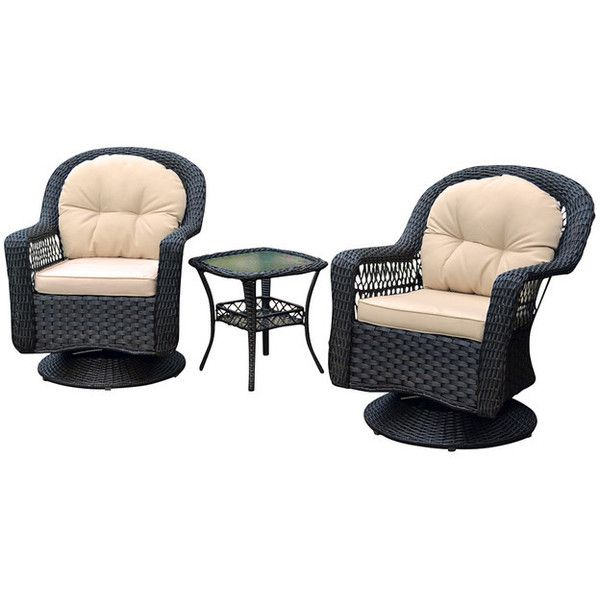 Biloxi 3-Piece Bistro Set, Black - Tropical - Outdoor Lounge Sets - by... ❤ liked on Polyvore featuring home, outdoors, patio furniture, outdoor patio sets, outdoor furniture patio sets, outdoor bistro set, outdoor lounge set, outdoors patio furniture and black patio furniture