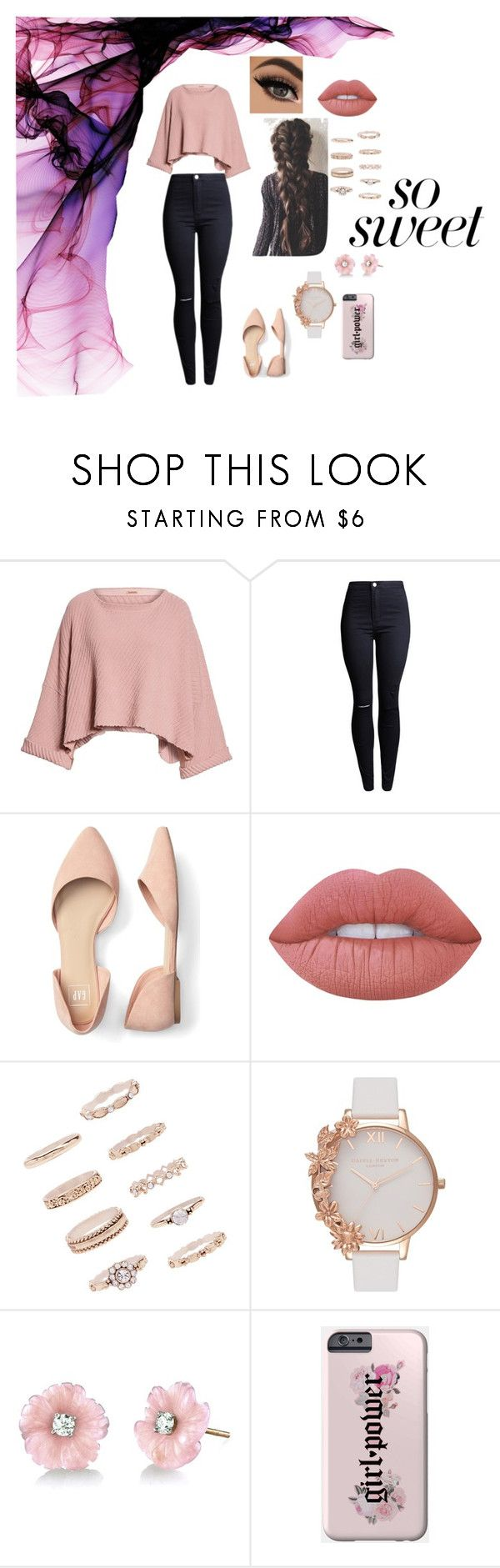 . by patriivasca on Polyvore featuring Free People, Olivia Burton, Forever 21, Irene Neuwirth and Lime Crime