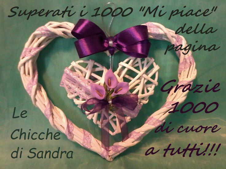 Doppio cuore romantico con cannucce di carta