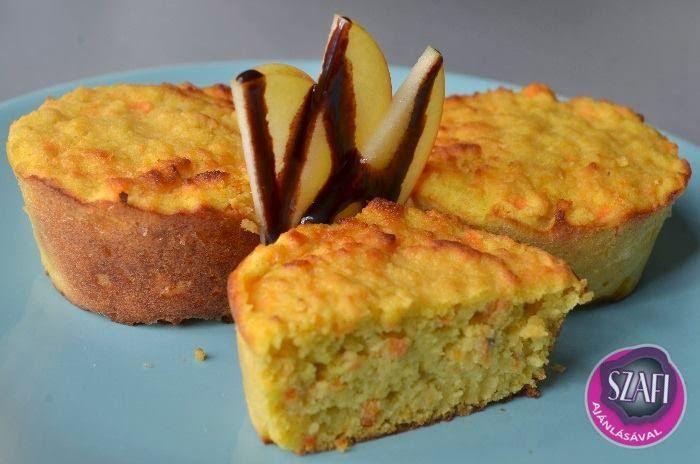 Diós-sárgarépás muffin