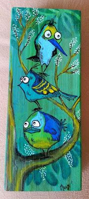 Mixed Media featuring Tim Holtz's Bird Crazy SKU 624022, available at www.addictedtorubberstamps.com Created by Marja at Marja's Stamp Addiction Blog.