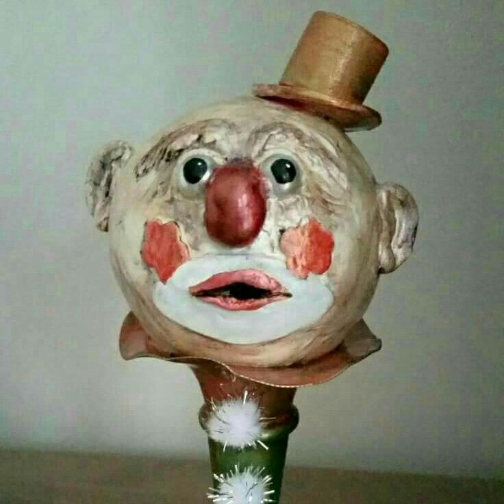 Excited to share the latest addition to my #etsy shop: Handmade clay clown sculpture decoration home and living clay art gift for her painted clown creepy clown clay sculpture unique gift decor #art #sculpture #handmade #clayclown #scaryclown #creepyclown #clay http://etsy.me/2jq3yPB