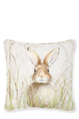 Buy Painted Hare Cushion online today at Next: Israel