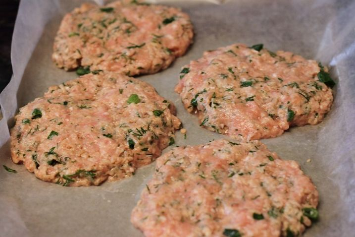 Moist Chicken Burgers - Combine ground chicken, dill, garlic, dried Italian herbs, chili powder, salt; fry patties in coconut oil, slap on a bun with your fav condiments, enjoy.