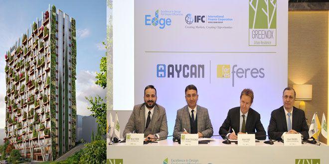 Aycan & Feres İş Ortaklığı tarafından İstanbul'un yatırım açısından değeri yükselen semtlerinden Çeliktepe'de 120 milyon TL yatırımla inşa edilen Greenox projesi, Uluslararası Finans Kurumu (IFC) tarafından başlatılan EDGE Yeşil Bina Sektörel Gelişim Programı kapsamında Türkiye'nin ilk EDGE Yeşil Bina Sertifika almaya hak kazanan binası seçildi. Dikey orman konseptiyle inşa edilen ve toplam 170 konuttan oluşan ...