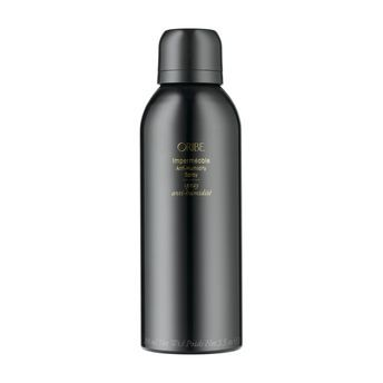 Oribe Imperméable Anti-Humidity Spray- A vitamin-enriched finishing spray that secures your style and shields hair against the damaging effects of UV rays.