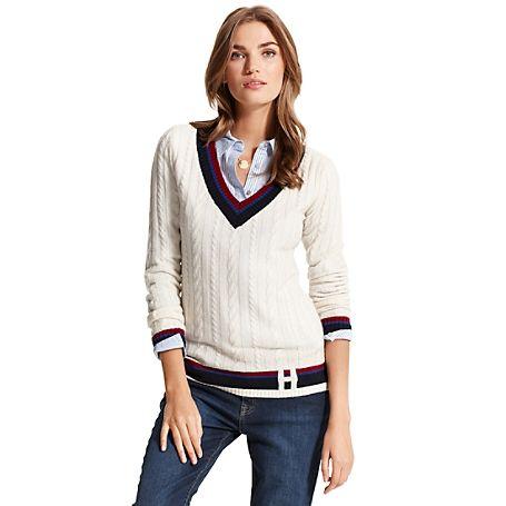 h deep vneck sweater tommy hilfiger cricket sweater