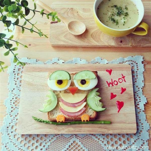 Lekker, leuk & gezond! De leukste boterhammen met figuurtjes speciaal gemaakt voor kinderen!