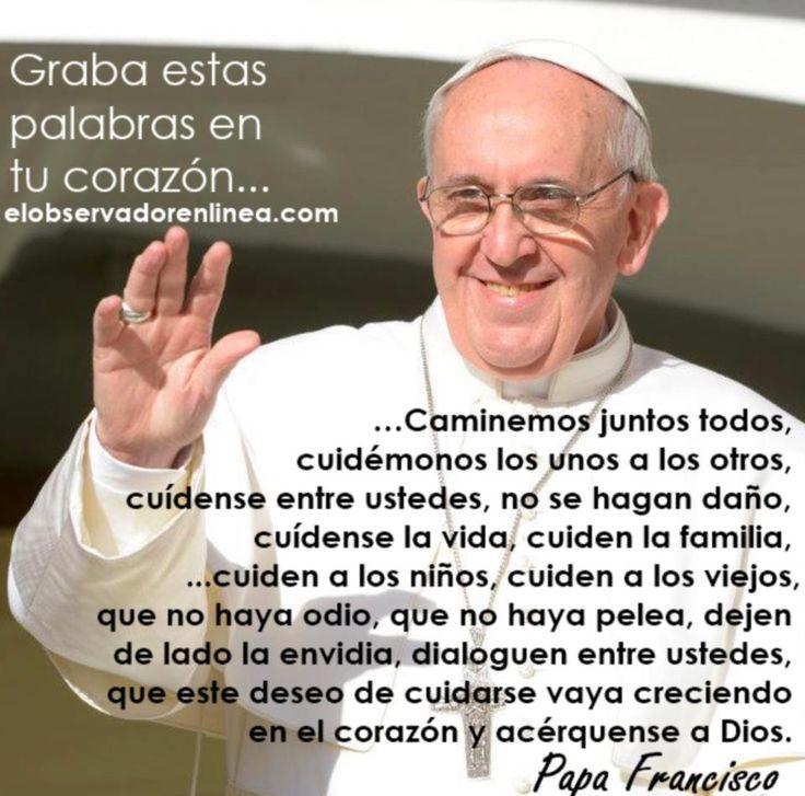 EL MUNDO CAMBIARÍA SI LLEVÁRAMOS A LA PRÁCTICA ESTAS SIMPLES PALABRAS !!! BRAVO FRANCISCO !!!