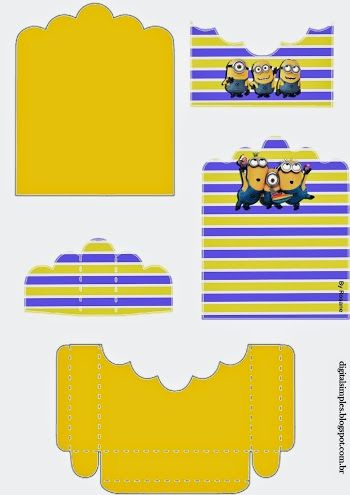 Minions: Free Printable Candy Packages Support.