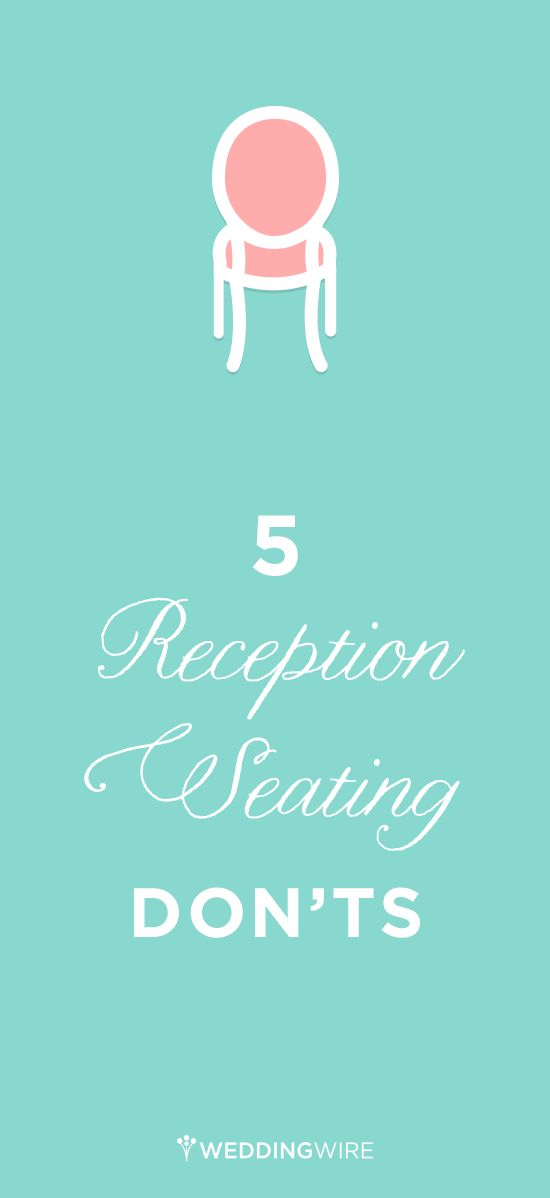 Your reception seating chart can be a difficult puzzle to put together during wedding planning, so @weddingwire is here to help! Click through for what NOT to do while planning your reception seating!