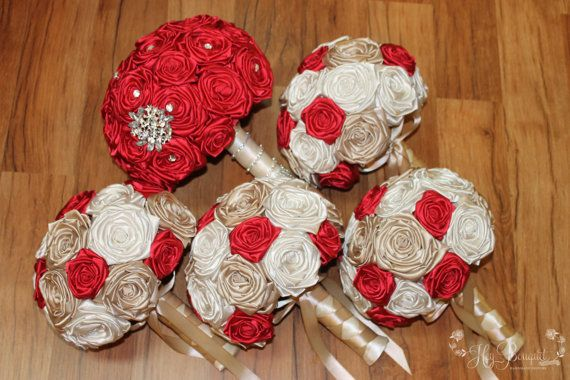DEPOSIT Red Champagne & Ivory Bouquet Package Red by HeyBouquet