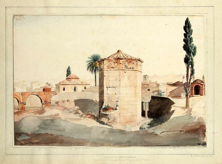 Etienne Rey (1789-1867)-La Tour des Vents