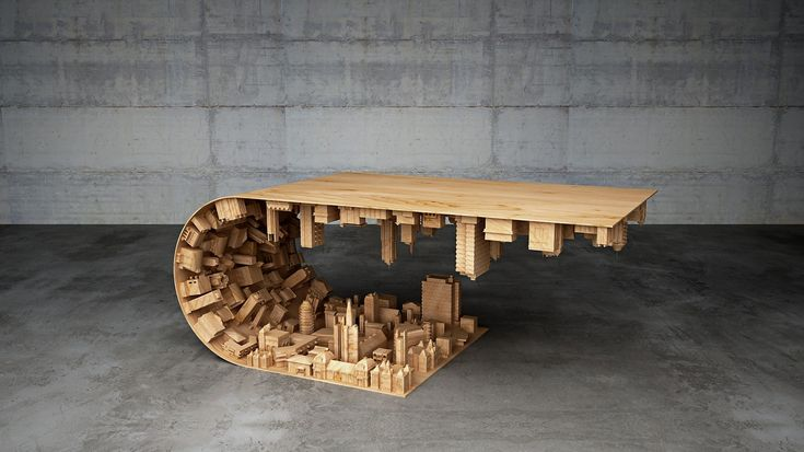 Una mesa inspirada en la película de Christopher Nolan, Inception