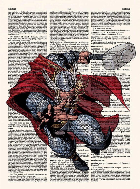 Thor-Poster Avengers bewundern Sie Poster Superheld Kunst