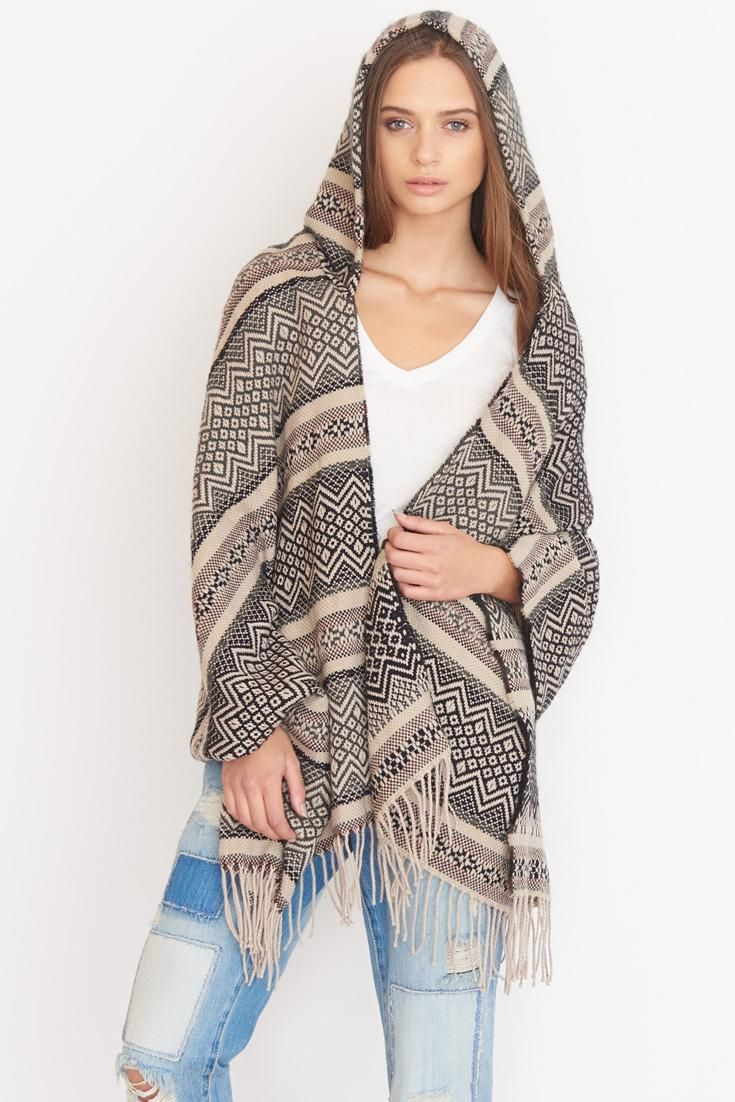 Hooded Poncho.