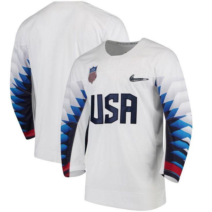 US Hockey Nike 2018 Winter Olympics Replica Jersey - Royal | Team USA  hockey sweaters | Pinterest | Team usa hockey, 2018 winter olympics and  Hockey