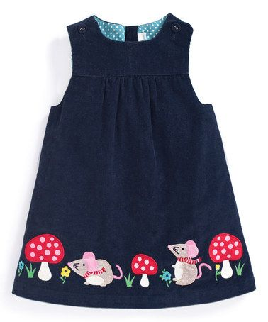 Look what I found on #zulily! Navy Mouse Appliqué Pinafore Dress - Infant, Toddler & Girls #zulilyfinds