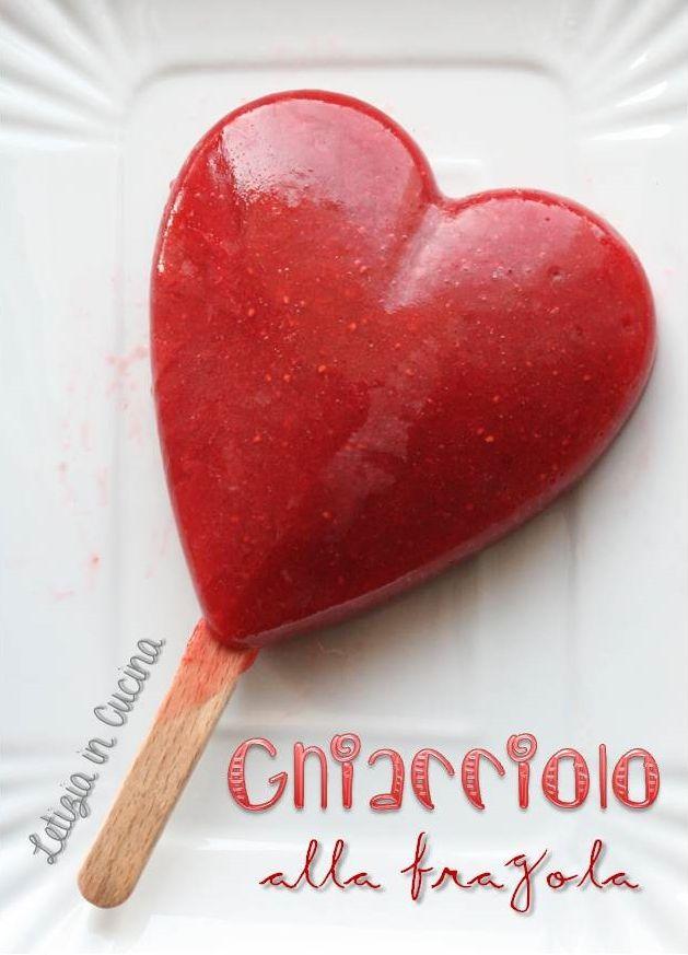 Ghiaccioli alla fragola - strawberry popsicles
