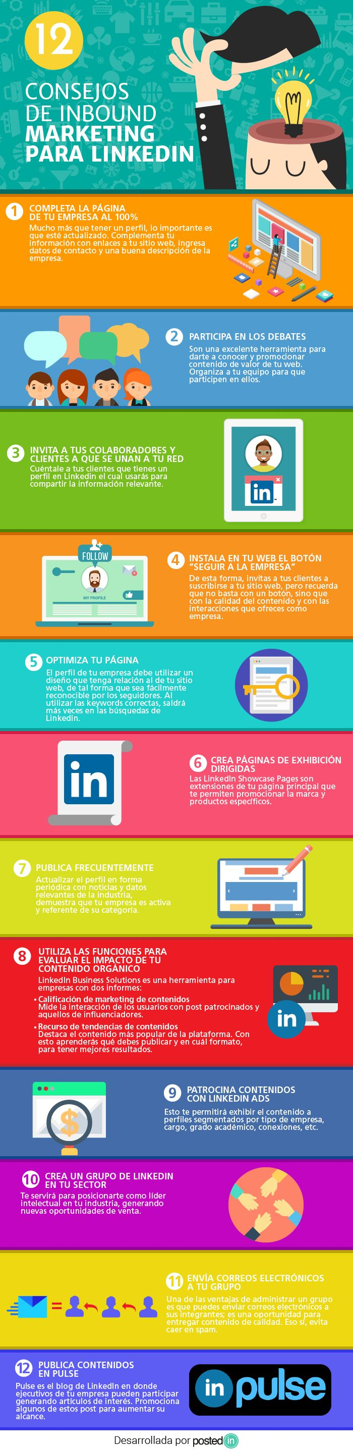12 consejos de inbound marketing para LinkedIn #SocialMedia #InboundMarketing #LinkedIn