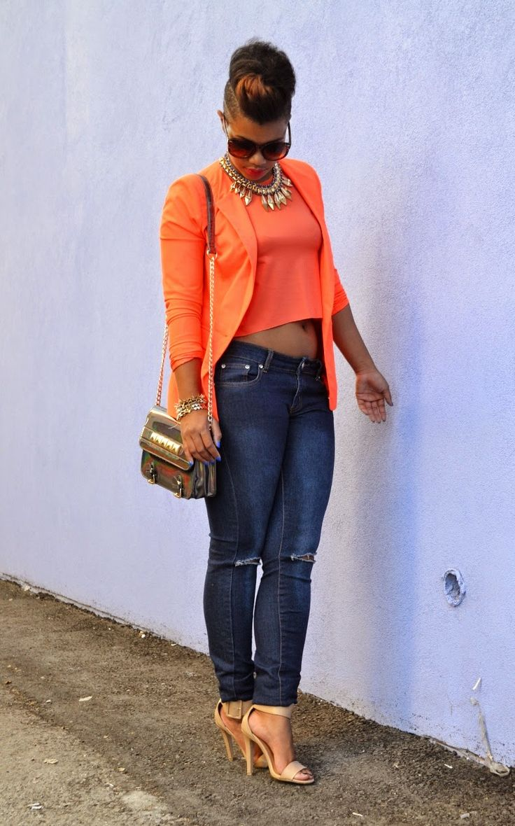ecstasymodels: love this entire look.       Neon Blazer, Business Casual     She Recycles Fashion    (Source: sherecyclesfashion.com) - Ecstasy Models