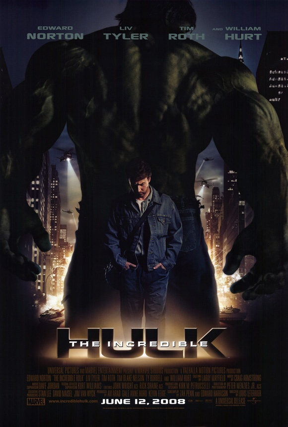 The Incredible Hulk (2008) 2nd one that was made with Edward Norton as the Hulk Marvel Comics