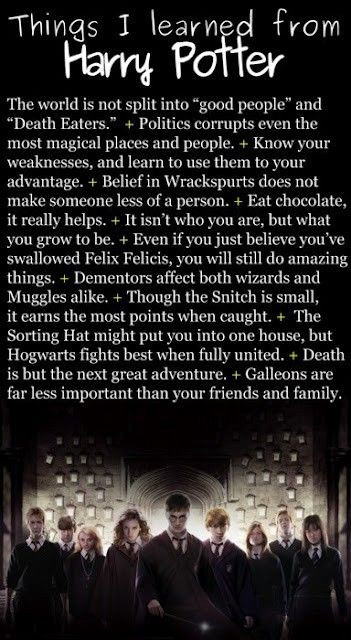 Things I learned from Harry Potter