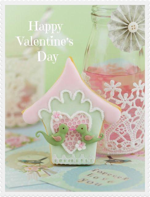 Valentine's love bird cookies del libro Fiestas Dulces de Patricia Arribálzaga