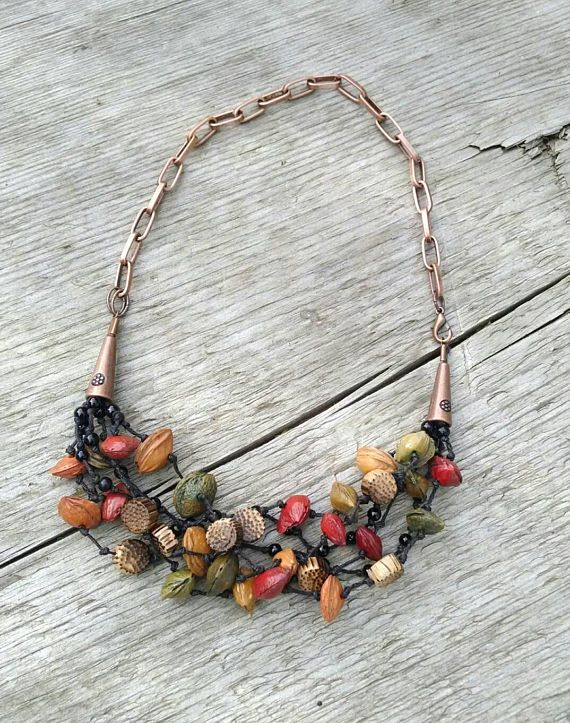 Check out this item in my Etsy shop https://www.etsy.com/listing/182938061/colorful-seed-necklace-boho-necklace